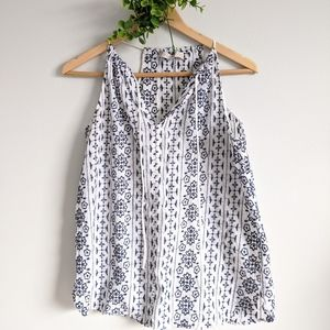 LOFT Embroidery Summer Top Cotton
